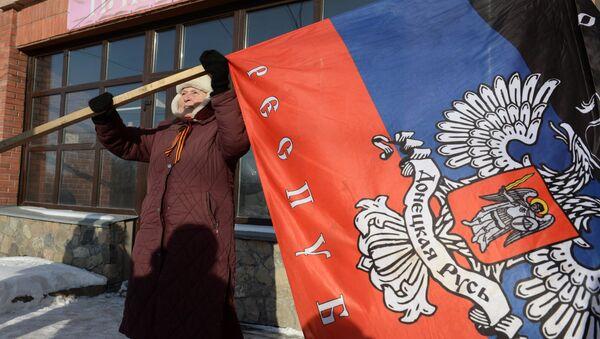 Vlajka DLR. Ilustrační foto - Sputnik Česká republika