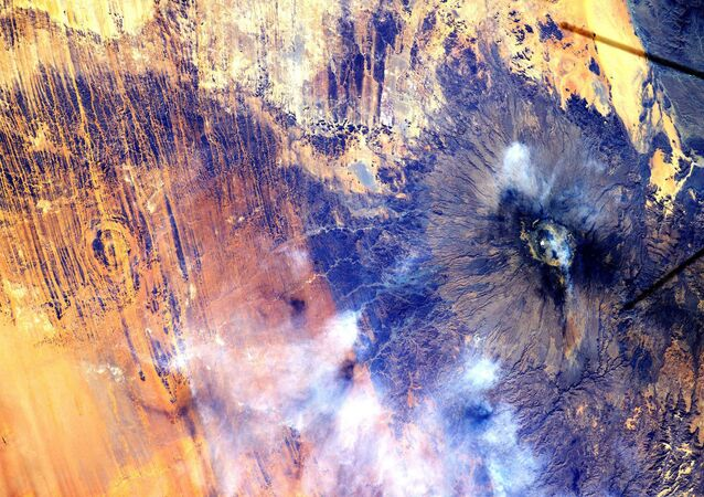 Pohled na Afriku z Mezinárodní vesmírné stanice