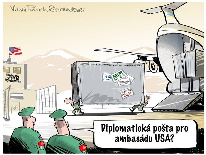150 tun diplomatické pošty pro ambasádu USA v Biškeku?
