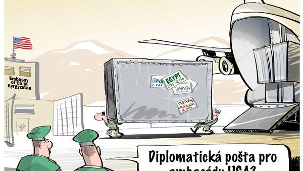 150 tun diplomatické pošty pro ambasádu USA v Biškeku? - Sputnik Česká republika