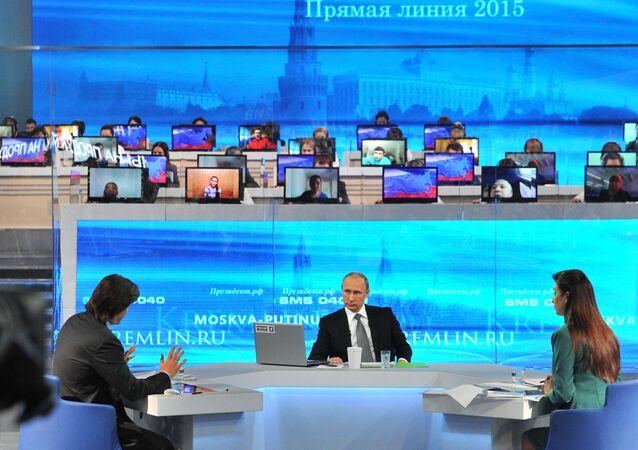 Přímá linka s Vladimirem Putinem