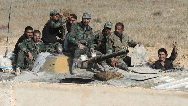 Syrští vojáci u Palmýry - Sputnik Česká republika