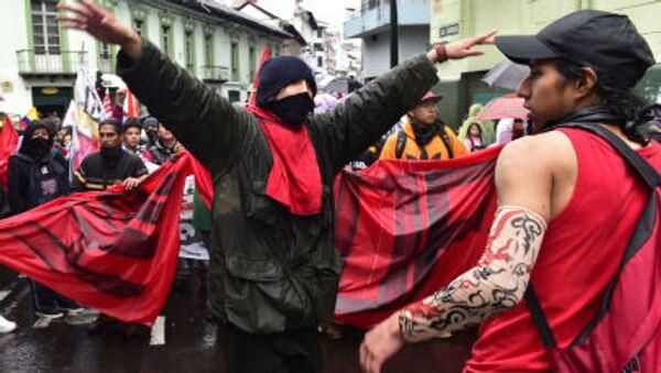 Protesty v Ekvádoru - Sputnik Česká republika