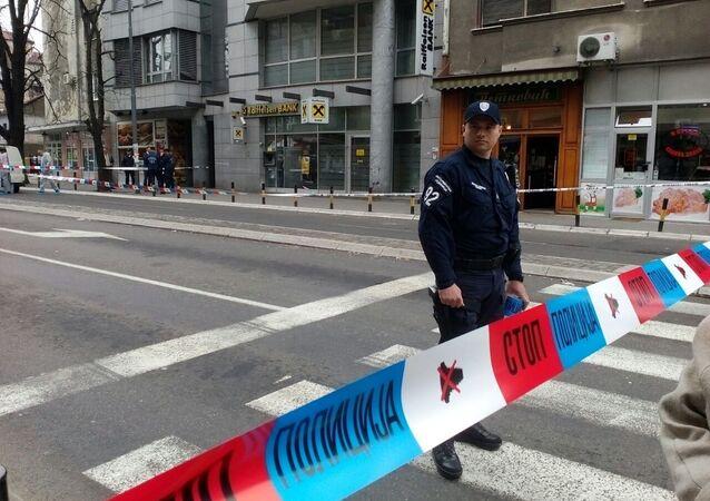 Výbuch v centru Bělehradu