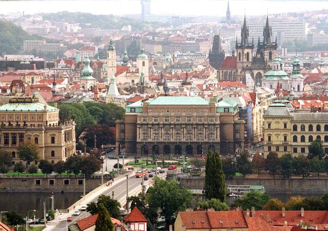 Pohled na centrum Prahy