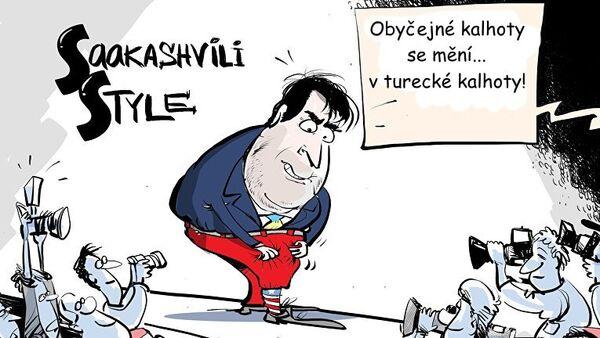 Módní přehlídka Saakašviliho - Sputnik Česká republika