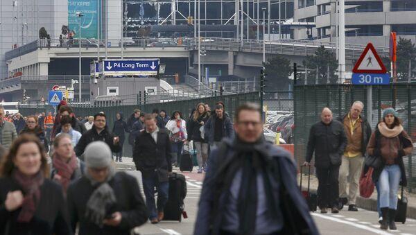 Evakuace lidí z letiště v Bruselu - Sputnik Česká republika