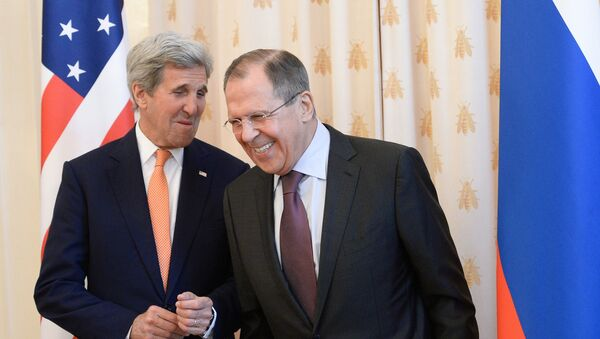 Ministr zahraničí USA John Kerry a ruský ministr zahraničí Sergej Lavrov - Sputnik Česká republika