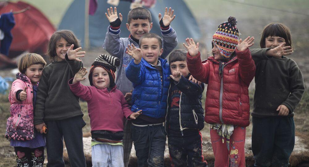 Děti uprchlíků v Řecku