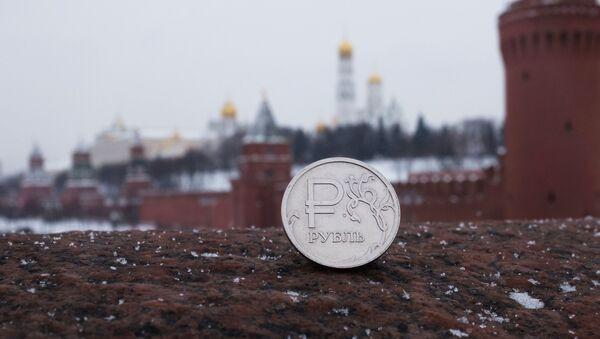Rubl na pozadí Kremlu - Sputnik Česká republika