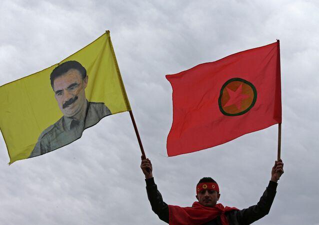 Vlajka Strany kurdských pracujících (PKK)