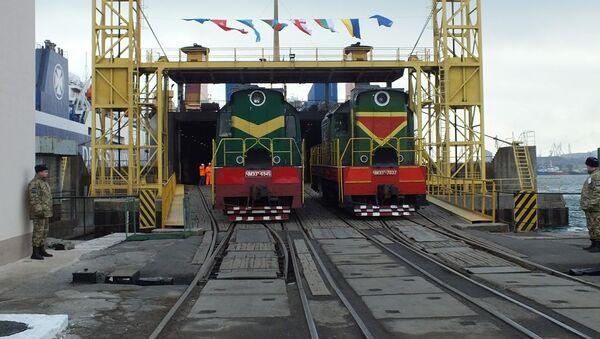 Odjezd nákladního vlaku z Ukrajiny do Číny - Sputnik Česká republika