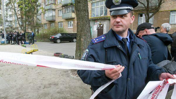 Místo vraždy Olesa Buzyny - Sputnik Česká republika