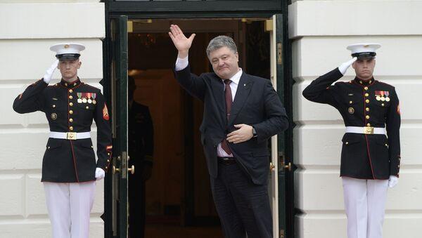Ukrajinský prezident Petro Porošenko ve Washingtonu - Sputnik Česká republika
