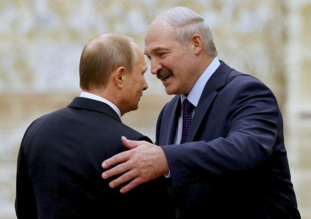 Vladimir Putin a Alexandr Lukašenko