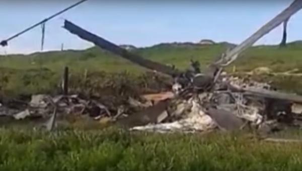Ministerstvo obrany Arménie zveřejnilo video s troskami údajně sestřeleného Mi-24 - Sputnik Česká republika