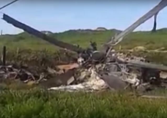 Ministerstvo obrany Arménie zveřejnilo video s troskami údajně sestřeleného Mi-24
