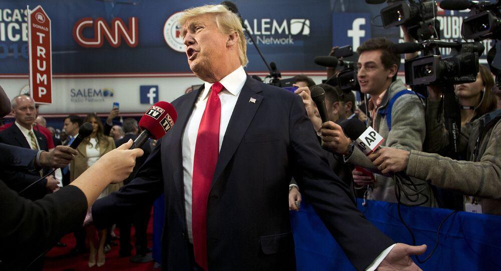 Kandidát na prezidenta USA, republikán Donald Trump