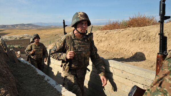 Arménští vojáci v Náhorním Karabachu - Sputnik Česká republika