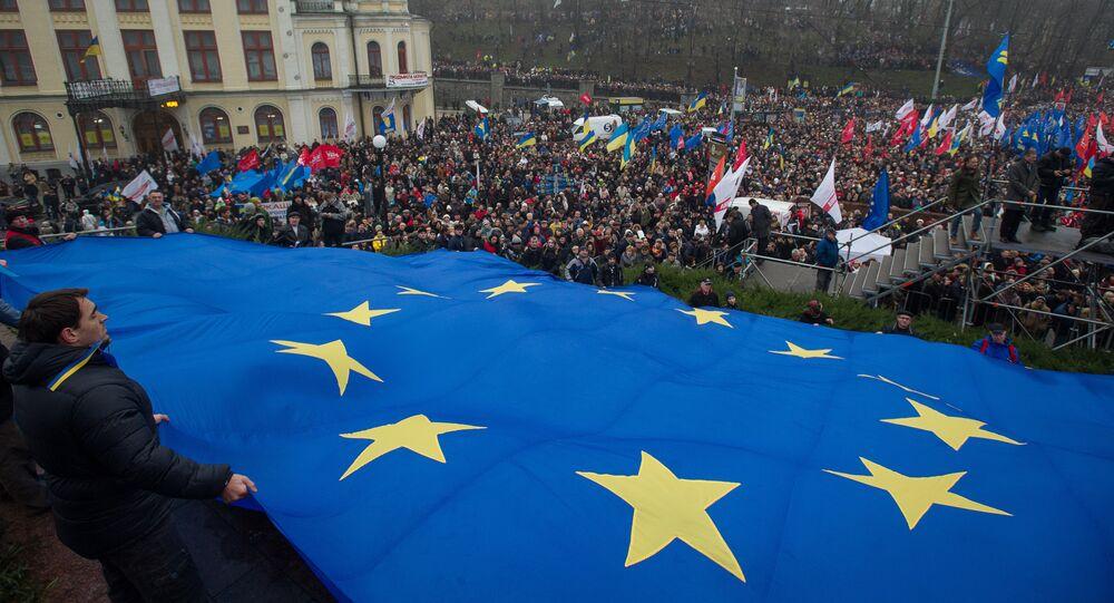 Mítink Pro evropskou Ukrajinu v Kyjevě