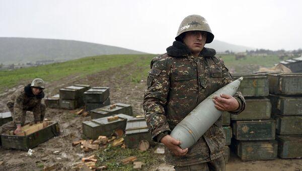 Vojáci v oblasti karabašského konfliktu - Sputnik Česká republika