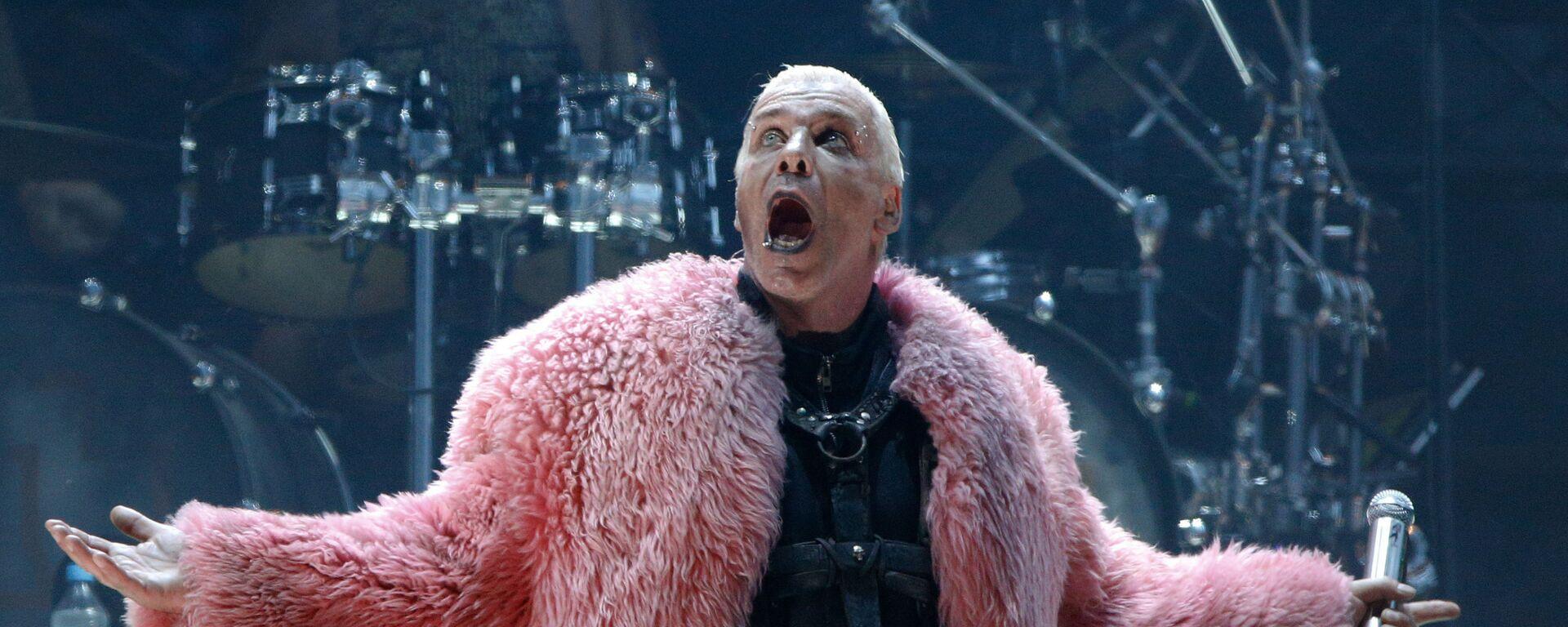 Till Lindemann, frontman německé hudební skupiny Rammstein - Sputnik Česká republika, 1920, 28.05.2021