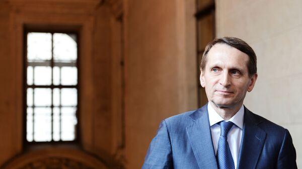 Předseda ruské Státní dumy Sergej Naryškin - Sputnik Česká republika
