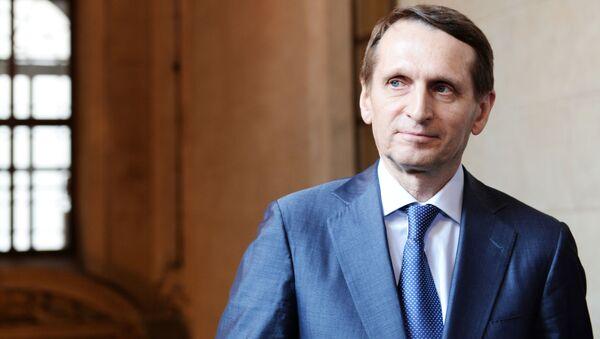 Šéf ruské rozvědky Sergej Naryškin - Sputnik Česká republika