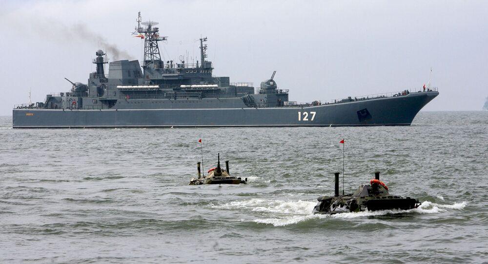 Velká výsadková loď Baltské flotily Minsk. Ilustrační foto
