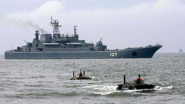 Velká výsadková loď Baltské flotily Minsk - Sputnik Česká republika