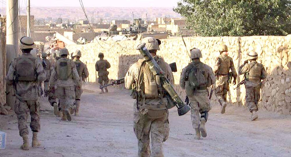 Američtí vojáci na irácko-syrské hranici