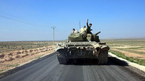 Syrští vojáci u Aleppa - Sputnik Česká republika
