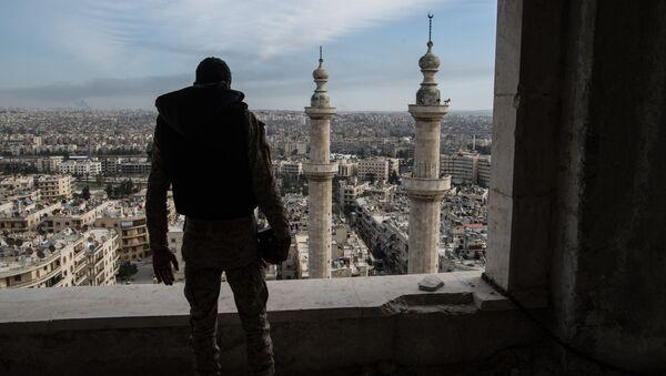 Syrský voják v Aleppu - Sputnik Česká republika