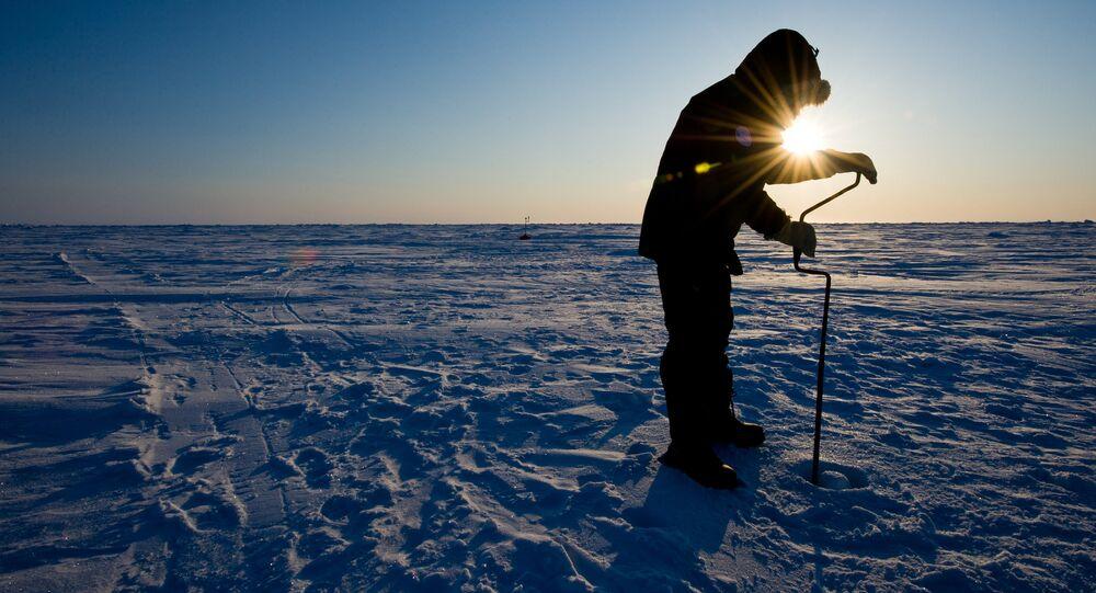 Vědecký výzkum na stanici «Barneo» na severním pólu.