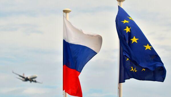 Vlajka Ruska a Vlajka EU - Sputnik Česká republika