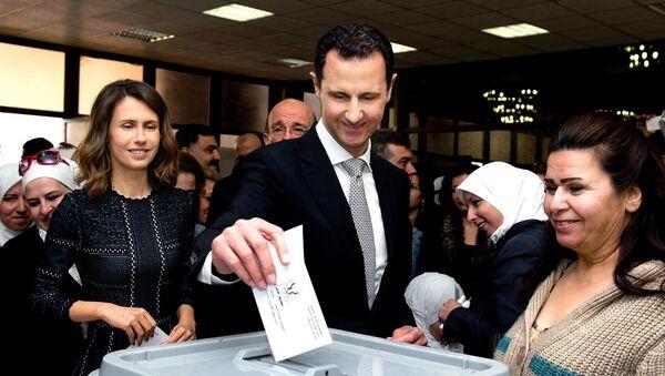 Bašár Asad a jeho manželka - Sputnik Česká republika