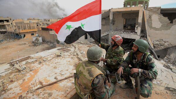 Syrští vojáci v Palmýře - Sputnik Česká republika