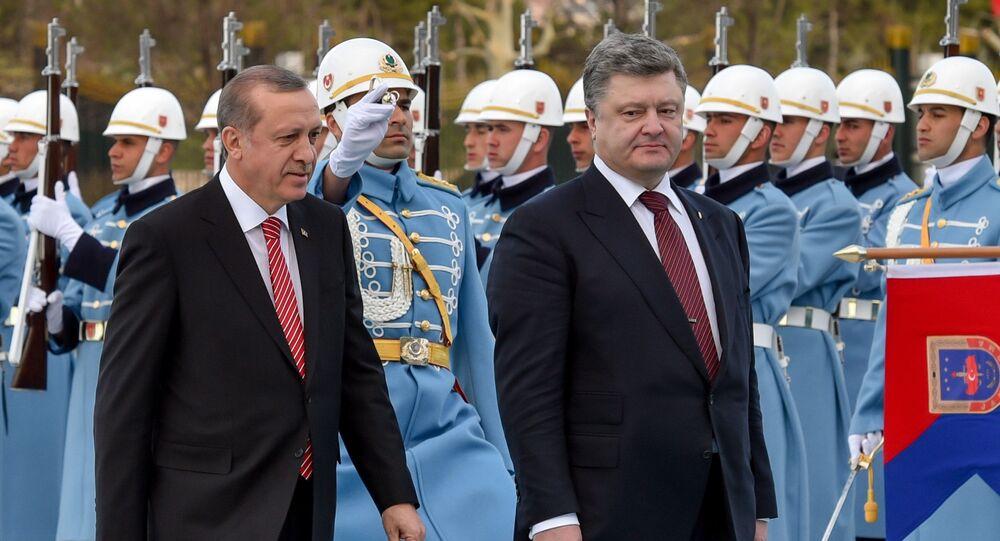 Recep Tayyip Erdogan a Petro Porošenko