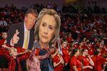 Portréty Donalda Trumpa a Hillary Clintonové