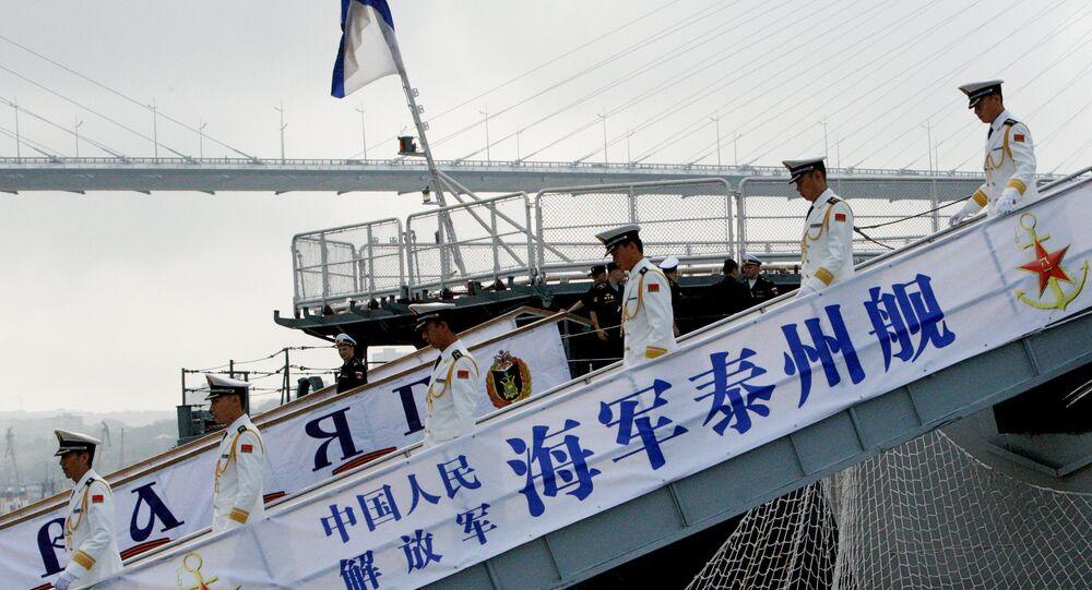Uvítání čínských lodí ve Vladivostoku