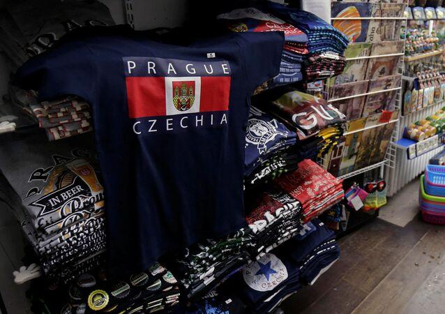 Tričko c nápisem Prague / Czechia