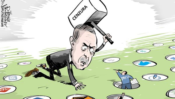 Erdogan a cenzura - Sputnik Česká republika