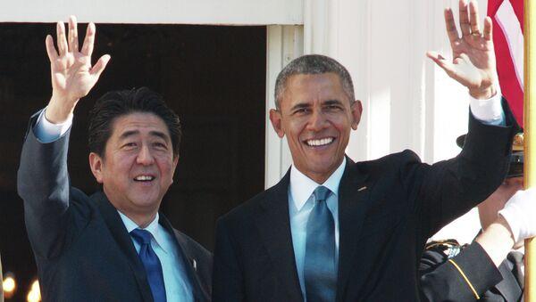 Šinzó Abe a Barack Obama - Sputnik Česká republika