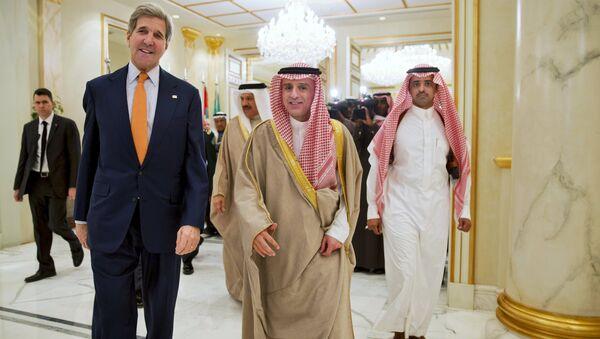 John Kerry a Ádil Džubajr - Sputnik Česká republika