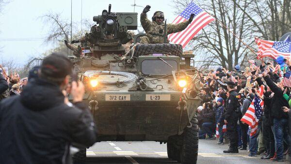 Konvoj NATO v České republice, 30. března 2015 - Sputnik Česká republika