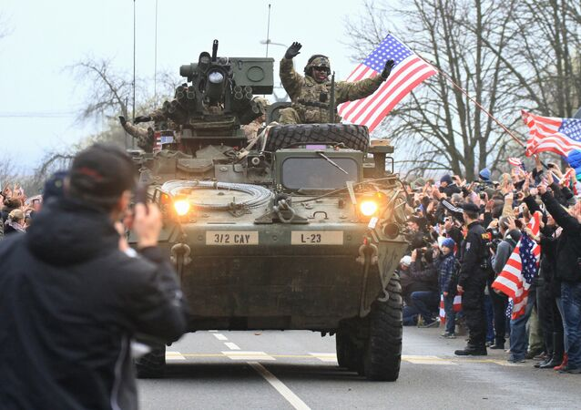 Konvoj NATO v České republice, 30. března 2015. Ilustrační foto