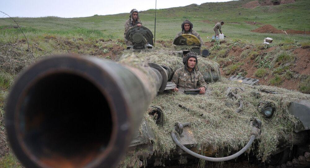 Vojáci armády obrany Náhorního Karabachu