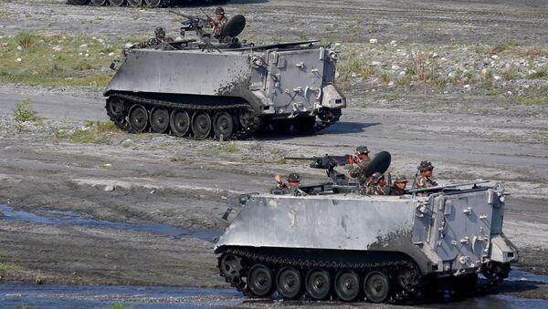 Americká a filipínská vojska během cvičení na Filipínách - Sputnik Česká republika