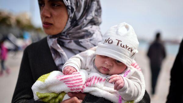 Syrští migranti, kteří uprchli z Turecka - Sputnik Česká republika