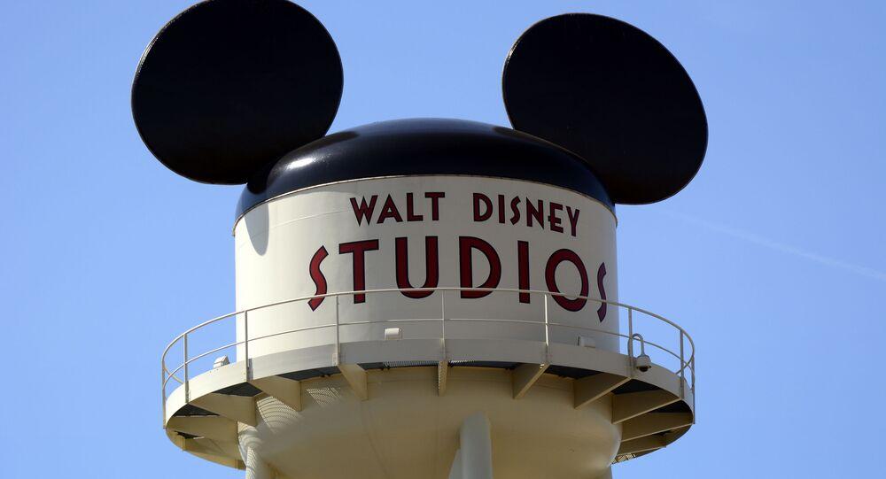 Logotyp filmového studia Disney v Paříži